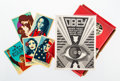 Collectible, Shepard Fairey X Arkitip. Issue No. 0051, 2009. Offset magazine with five stickers. 10 x 7-1/2 inches (25.4 x 19.1 cm) (...