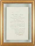 Autographs:Statesmen, Hamilton Fish: 1874 Consular Appointment to China....
