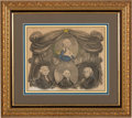 """Political:Small Paper (pre-1896), James Madison: """"American Star"""" Presidential Stipple Engraving...."""