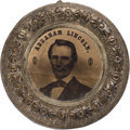 Political:Ferrotypes / Photo Badges (pre-1896), Abraham Lincoln: Next-to-Largest Size Back-to-Back Ferrotype Doughnut....