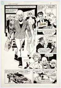 Jose Delbo and Don Heck The Adventures of Ford Fairlane #1 Story Page 9 Original Art (DC, 1990)