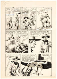 John Severin Fargo Kid Unspecified Issue Story Page 5 Original Art (Prize Publ., 1958)