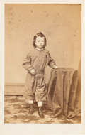 Political:Memorial (1800-present), [Abraham Lincoln]: CDV of Boy Wearing Mourning Badge....