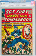 Silver Age (1956-1969):Superhero, Sgt. Fury and His Howling Commandos #13 (Marvel, 1964) CGC NM- 9.2 Off-white pages....