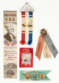 Political:Ribbons & Badges, Benjamin Harrison and James G. Blaine: Ribbons and More....