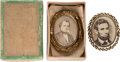 Political:Ferrotypes / Photo Badges (pre-1896), Abraham Lincoln and Stephen A. Douglas: Large Portrait Bro...