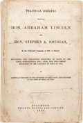 "Political:Small Paper (pre-1896), Abraham Lincoln and Stephen A. Douglas: Rare ""Debates"" in ..."