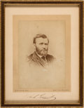 Autographs:U.S. Presidents, Ulysses S. Grant: Autographed Photo Signed During Roman Holiday....