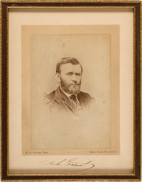 Ulysses S. Grant: Autographed Photo Signed During Roman Holiday