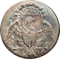 """George Washington: Exceptional """"Eagle with Glory"""" Inaugural Button"""