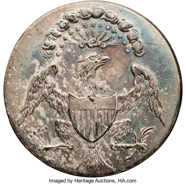 "Political:Inaugural (1789-present), George Washington: Exceptional ""Eagle with Glory"" Inaugural Button...."