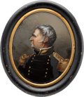 Political:3D & Other Display (pre-1896), Zachary Taylor: Miniature Reverse Painting. ...