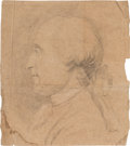 Political:Small Paper (pre-1896), George Washington: Profile Sketch Attributed to Stuart or Copley....