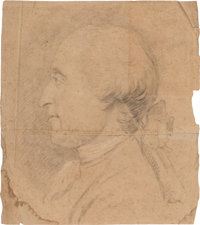 George Washington: Profile Sketch Attributed to Stuart or Copley