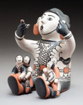 American Indian Art:Pottery, A Cochiti Polychrome Storyteller Virgil Ort...