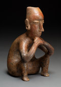 Pre-Columbian:Ceramics, A Colima Seated Figure ...