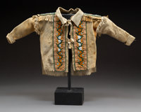 An Athabaskan Child's Beaded Hide Jacket