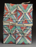 American Indian Art:Pipes, Tools, and Weapons, A Matching Pair of Crow Parfleche Envelopes c....