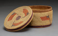 American Indian Art:Baskets, A Nootka Pictorial Twined Basket c. 1895