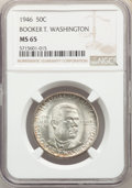 Commemorative Silver, 1946 50C Booker T. Washington MS65 NGC. This lot will also include the following: (2)1946-D 50C Booker T. Washington M... (Total: 3 coins)