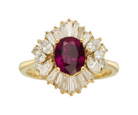 Ruby, Diamond, Gold Ring