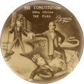 "Political:Pinback Buttons (1896-present), William Jennings Bryan: One of the Most Sought-after ""Cartoon Button"" Rarities With Obscure Shepard Photo Co., Buttons And Ba..."