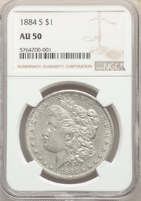 1884-S $1 AU50 NGC. NGC Census: (1035/5715). PCGS Population: (1467/5648). CDN: $165 Whsle. Bid for NGC/PCGS AU50. Minta...