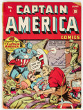 Golden Age (1938-1955):Superhero, Captain America Comics #4 (Timely, 1941) Condition: PR....