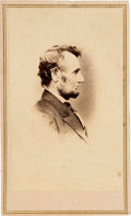 "Political:Small Paper (pre-1896), Abraham Lincoln: ""Penny Profile"" Carte-de-Visite by Anthon..."