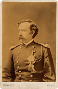 Western Expansion:Buffalo Soldiers, George A. Custer: Cabinet Card Presented by Libby Custer....