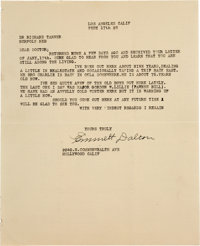"""Emmett Dalton: A Rare Signed Letter From This Famed Outlaw to Colorful Western Figure """"Diamond Dick"""" Tanner..."""