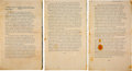 """Political:Small Paper (1896-present), Martin Luther King, Jr.: Advance Copy of His Iconic """"I Have a Dream"""" Speech...."""