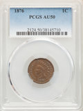 Indian Cents: , 1876 1C AU50 PCGS. PCGS Population: (64/415). NGC Census: (26/348). CDN: $210 Whsle. Bid for NGC/PCGS AU50. Mintage 7,944,0...