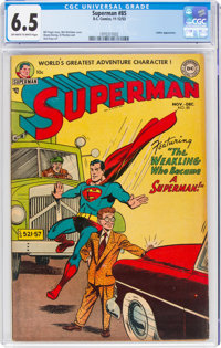 Superman #85 (DC, 1953) CGC FN+ 6.5 Off-white to white pages
