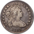 Early Dollars, 1795 $1 Draped Bust, Off-Center, B-14, BB-51, R.2, VF25 PCGS....