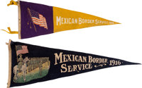 Mexican Border Service: Pair of Souvenir Felt Pennants.... (Total: 2)