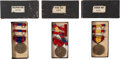 Military & Patriotic:Spanish American War, Indian/Spanish/Philippine Wars Service Medals in the Original Boxes.... (Total: 3 Items)