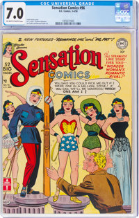 Sensation Comics #96 (DC, 1950) CGC FN/VF 7.0 Off-white to white pages