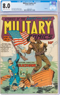 Golden Age (1938-1955):War, Military Comics #11 (Quality, 1942) CGC VF 8.0 Cream to off-white pages....