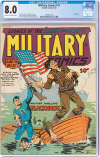 Military Comics #11 (Quality, 1942) CGC VF 8.0 Cream to off-white pages