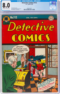 Detective Comics #112 (DC, 1946) CGC VF 8.0 Off-white to white pages
