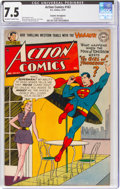 Action Comics #163 Cosmic Aeroplane Pedigree (DC, 1951) CGC VF- 7.5 Off-white to white pages