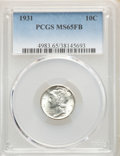 1931 10C MS65 Full Bands PCGS. PCGS Population: (133/112). NGC Census: (59/12). CDN: $500 Whsle. Bid for NGC/PCGS MS65...