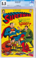 Golden Age (1938-1955):Superhero, Superman #69 (DC, 1951) CGC FN- 5.5 Off-white to white pages....