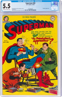 Superman #69 (DC, 1951) CGC FN- 5.5 Off-white to white pages