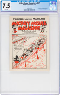 Mickey Mouse Magazine Dairy Giveaway V2#7 (Walt Disney Productions, 1935) CGC VF- 7.5 White pages