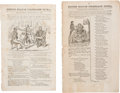 Political:Small Paper (pre-1896), [Andrew Jackson]: Pair of 1832 Journals with Anti-Administration Cover Cartoons....
