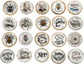 Political:Pinback Buttons (1896-present), Bryan & McKinley O'Hara Porcelain Lapel Studs: A very Special Collection Of 20 Different....