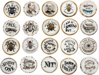Bryan & McKinley O'Hara Porcelain Lapel Studs: A very Special Collection Of 20 Different