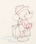 Animation Art:Production Drawing, Society Dog Show Pluto Mickey Mouse Animation Drawing (Walt Disney, 1939)....